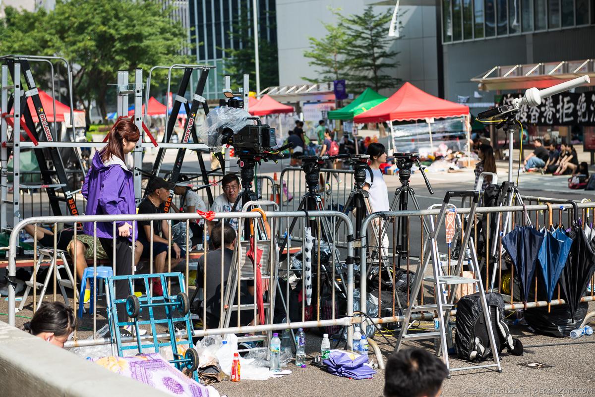 Гонконг революция зонтиков место для прессы