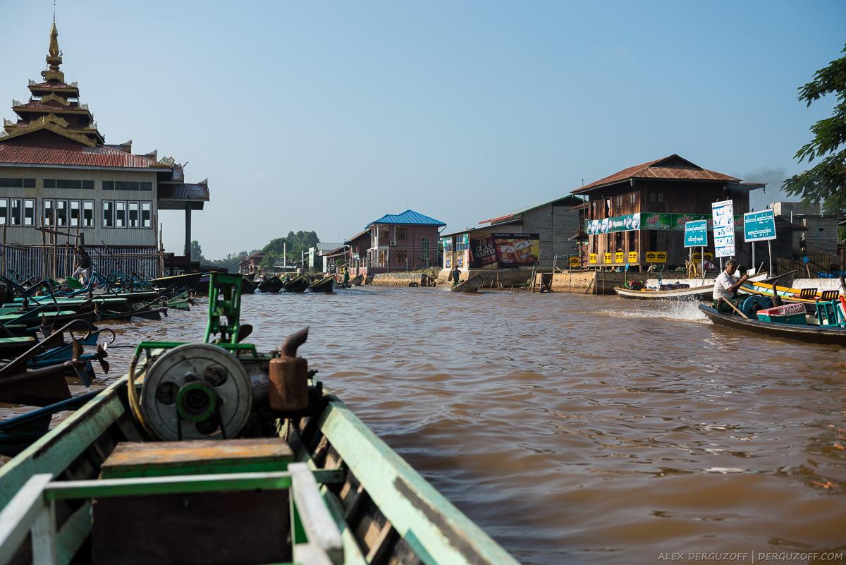 Канал к озеру Инле из Ньоншуэ