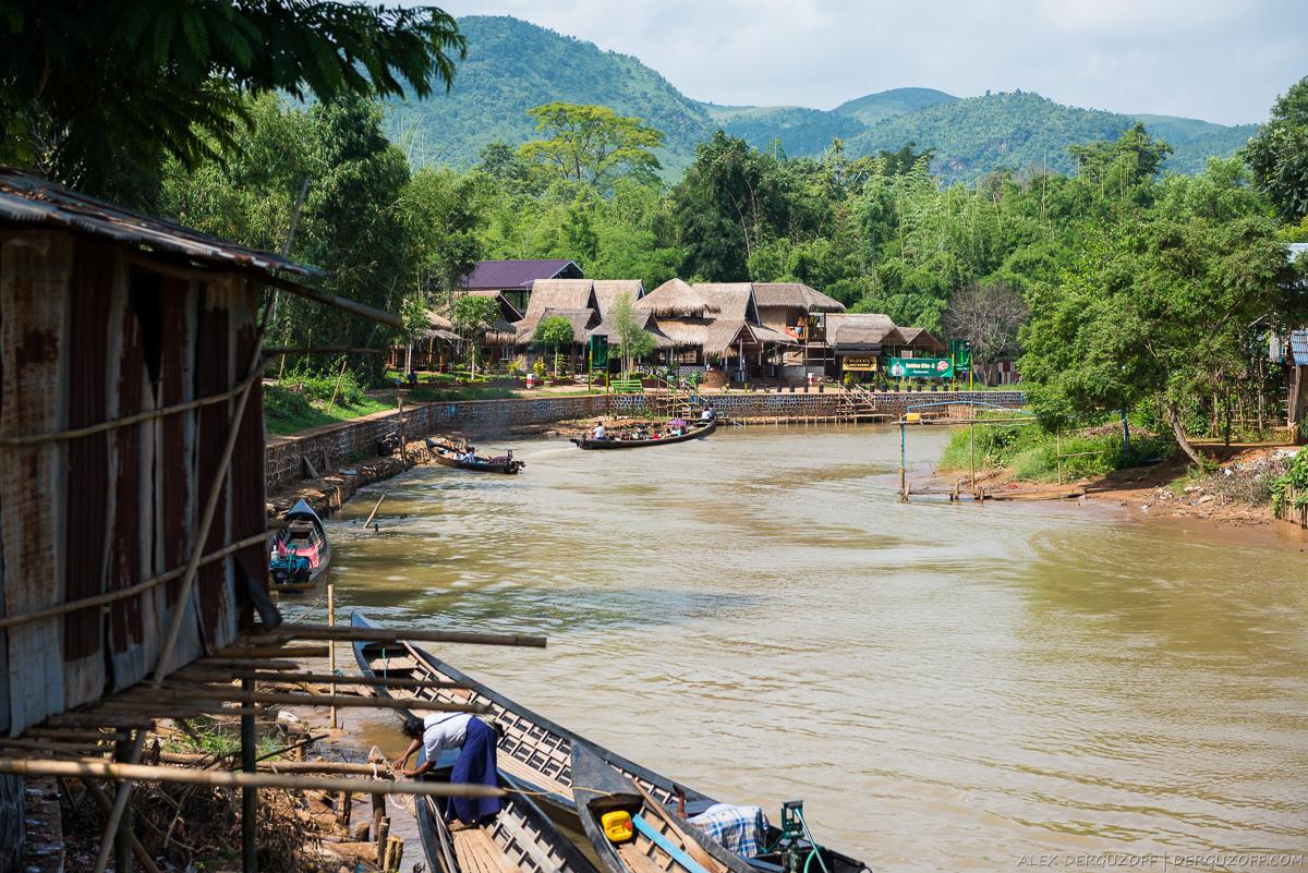 Канал в деревню Индейн Мьянма