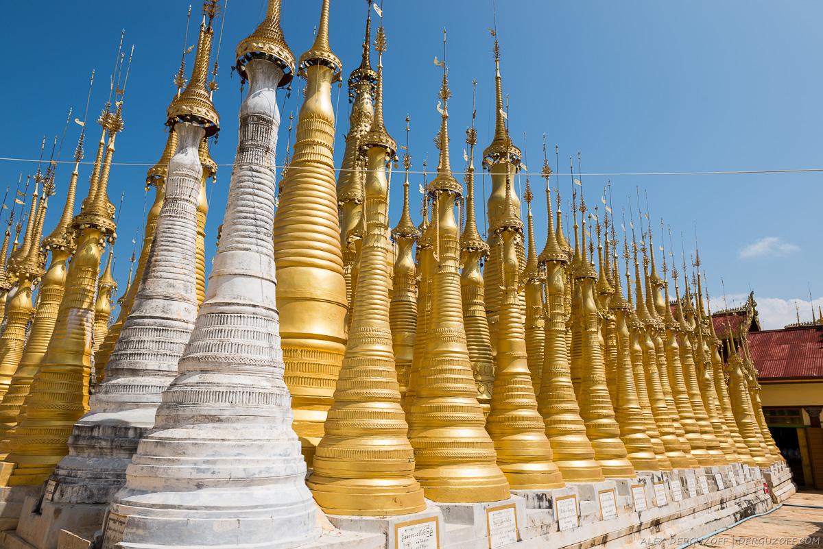 Сотни буддийских ступ в деревне Индейн