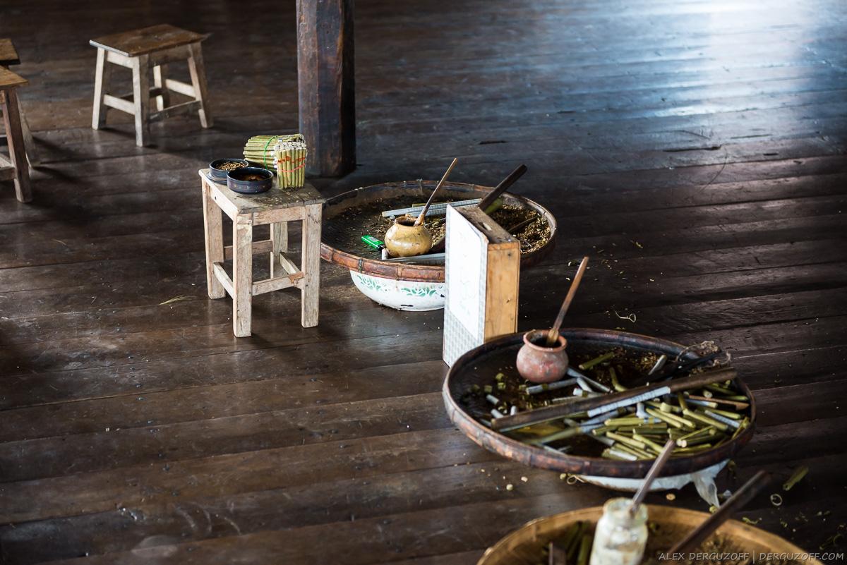 Производство сигар Мьянма озеро Инле