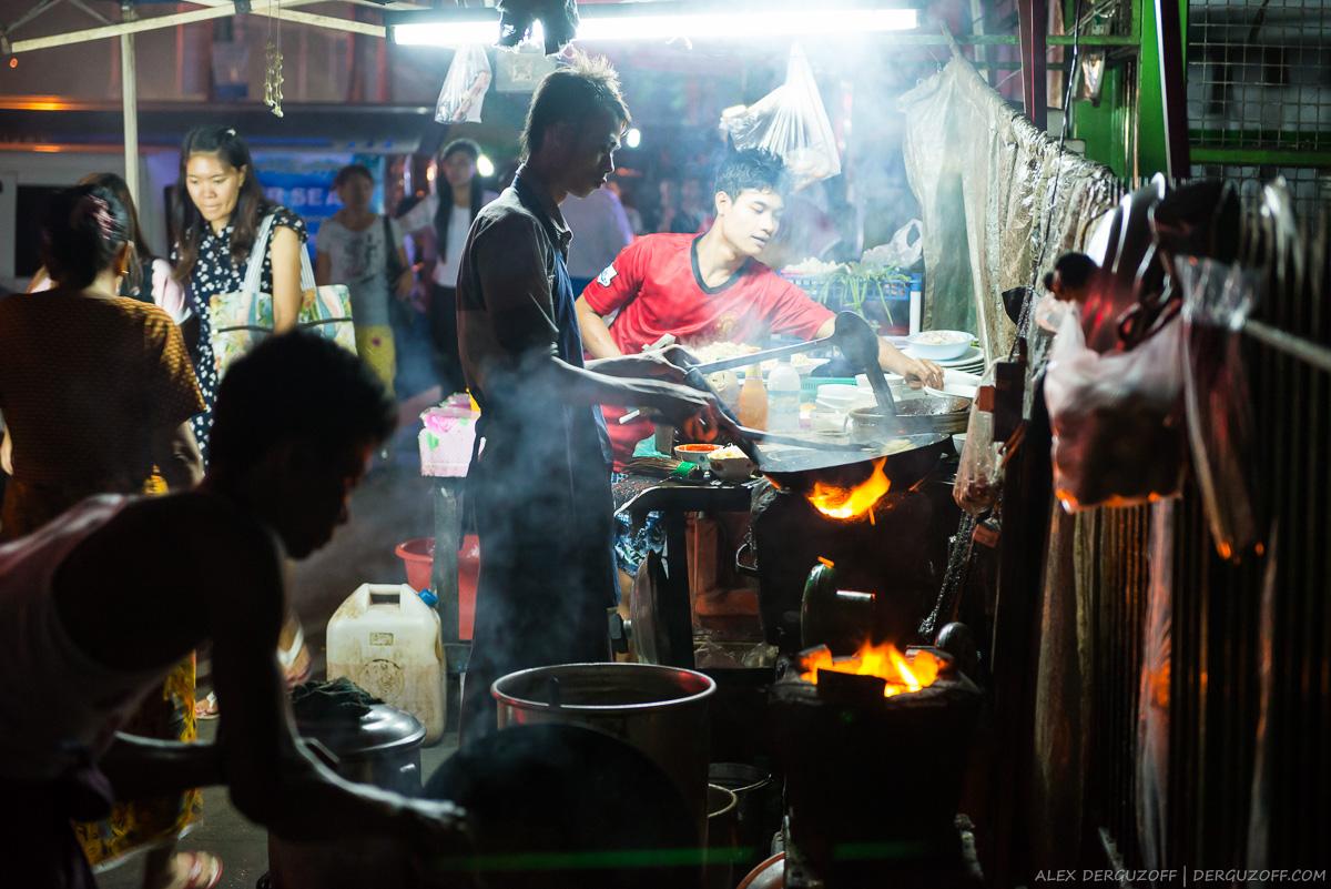 Мьянма Янгон уличная еда