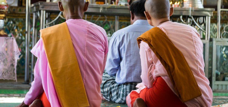 Буддийские монахини Мьянма Янгон