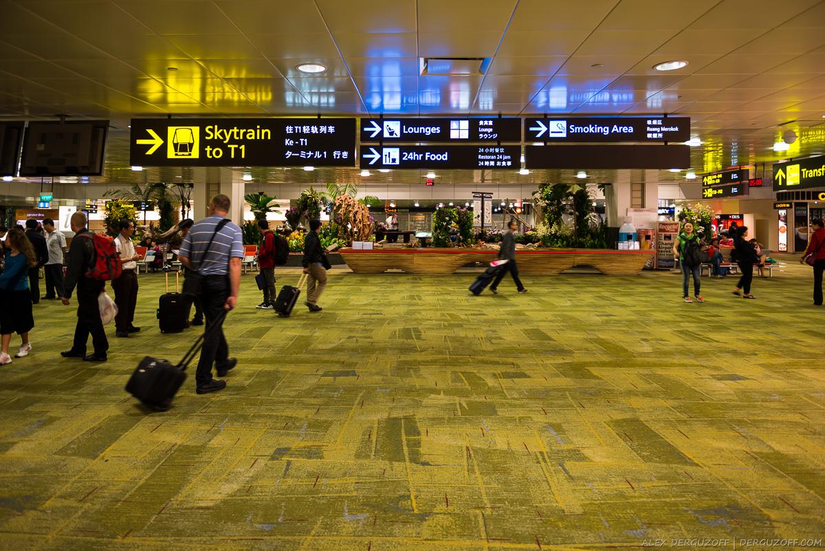 Сингапур аэропорт указатели и навигация