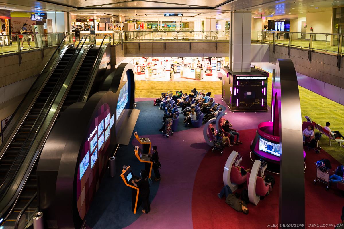 Цифровые развлечения в аэропорту Сингапура