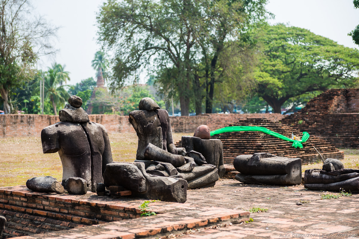 Сломанные ституи Будды Таиланд Аюттхая
