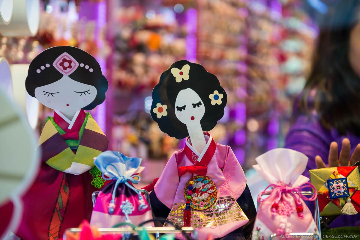 Куклы в национальных корейских костюмах
