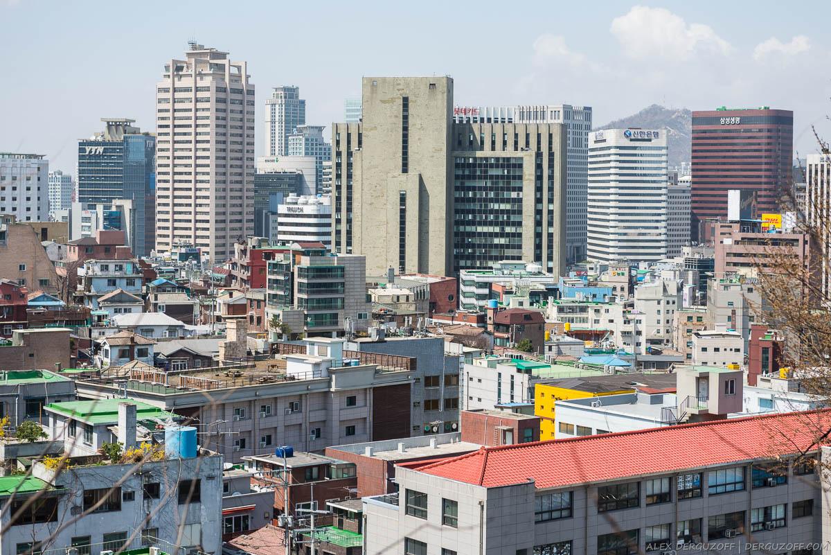 Городская застройка Южная Корея Сеул
