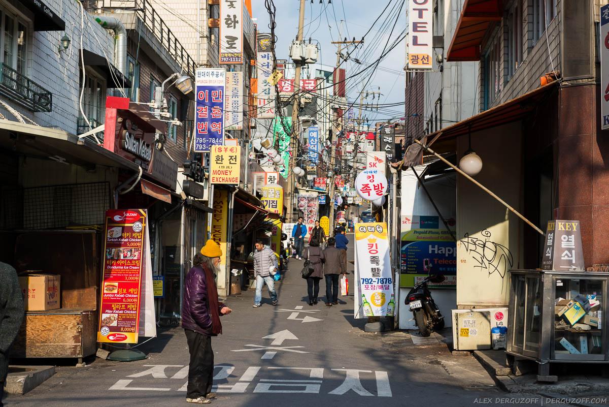 Узкие улицы Южная Корея Сеул