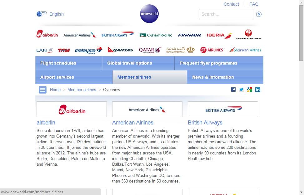 Авиакомпании альянса oneworld дешевые авиабилеты