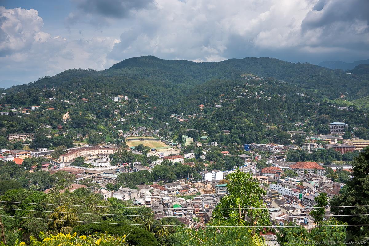 Виб на город Канди с холма Шри-Ланка