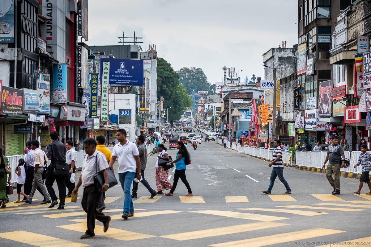Люди переходят дорогу