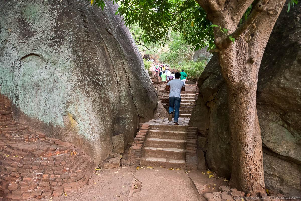 Проход между двух камней Шри-Ланка Сигирия