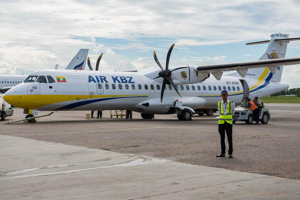 Самолет авиакомпании Мьянмы Air KBZ