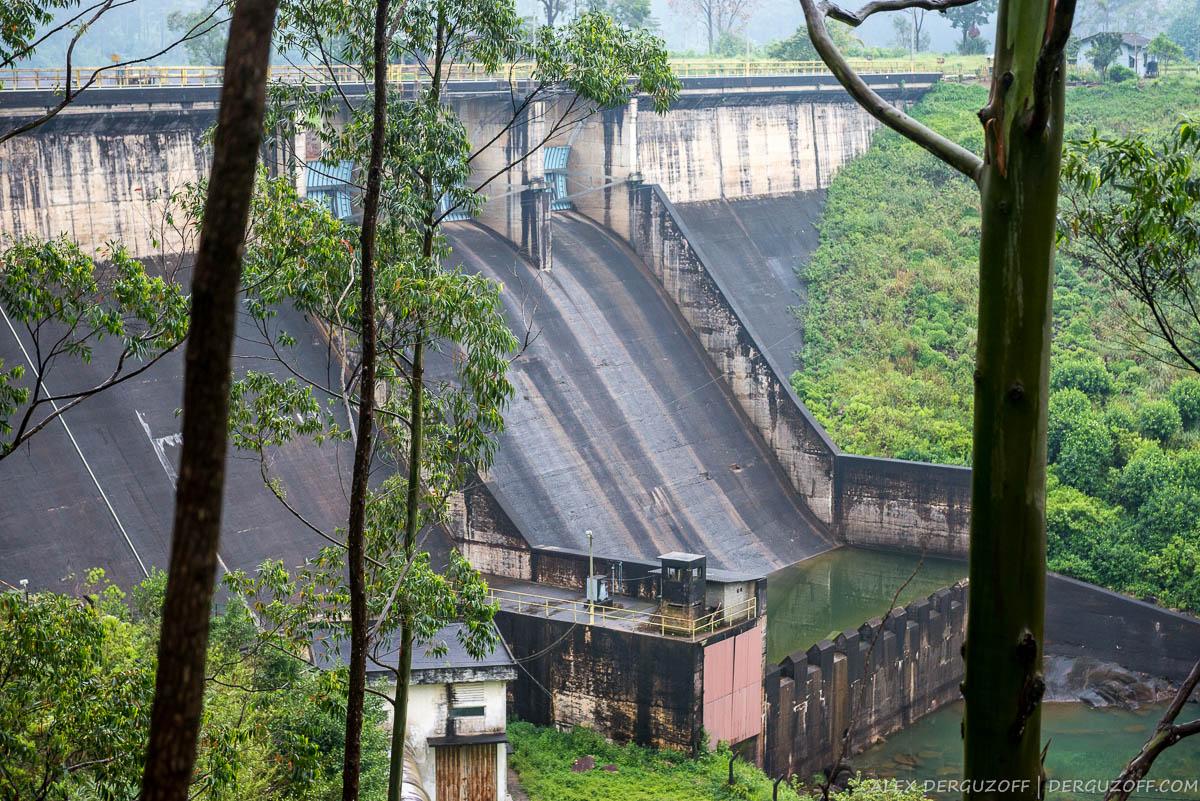 Плотина гидроэлектростанции Шри-Ланка Хаттон