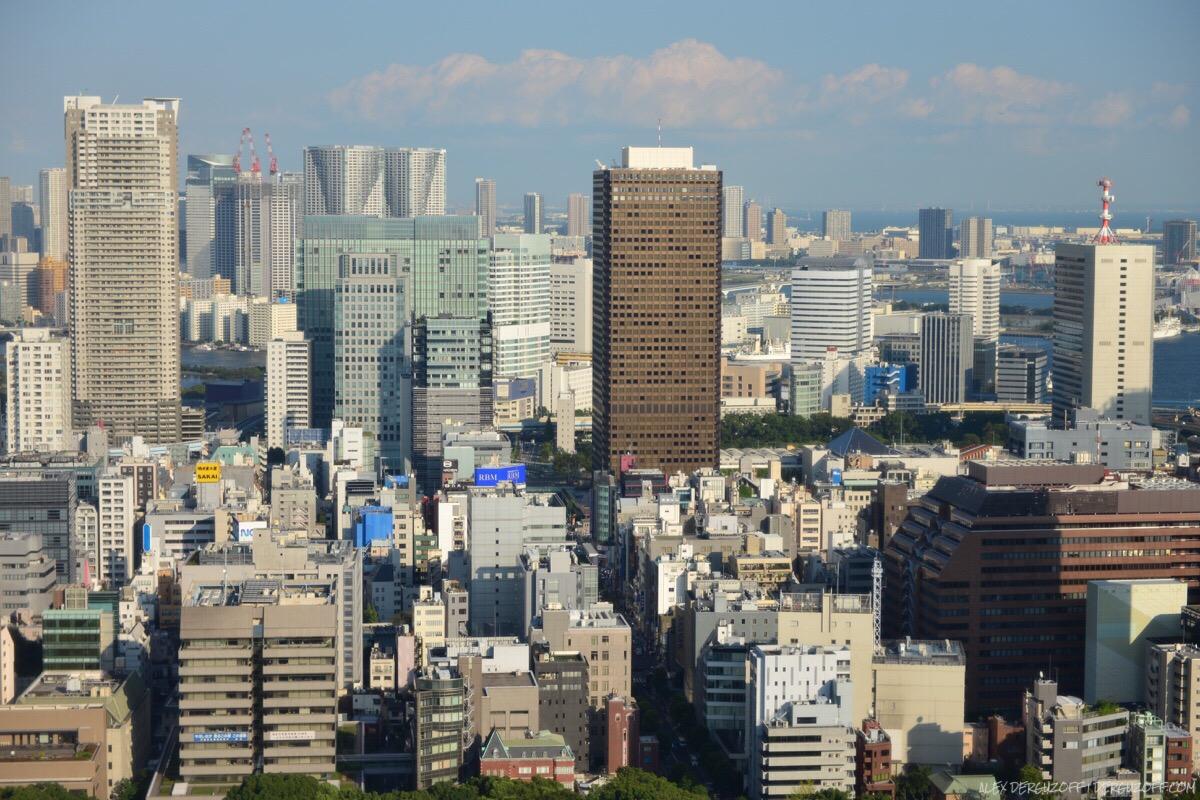 Токийский пейзаж с телебашни