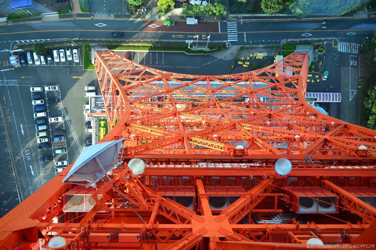Стеклянный пол Токийская телебашня