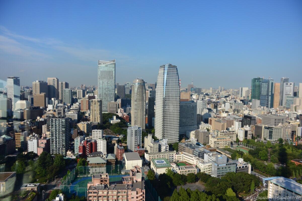 Пейзаж Токио с телебашни
